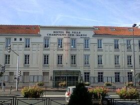 L'hôtel de ville de Champigny-sur-Marne