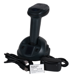 Inventory control - Wireless barcoder reader with docking station.
