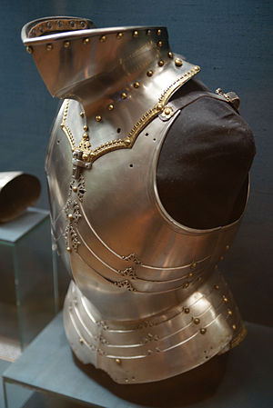 Bevor - Armour of Maximilian I with bevor (c. 1485)