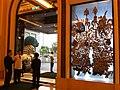 HK TST Peninsula Hotel Hong Kong door gods exit view stone lion Oct-2012.JPG