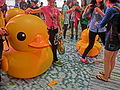 HK TST evening 111 yellow Rubber Duck visitors May 2013.JPG