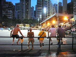 Sport in Hong Kong - Night football game in Wan Chai