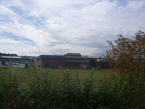 HM Prison Isle of Wight - Image: HMP Isle of Wight from Southern Vectis route 1 bus