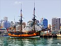 HMS Endeavour replica at Darling Harbour, Sydney.jpg
