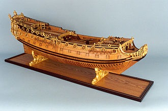 HMS Sussex (1693) - Image: HMS Sussex (80) model starboard broadside
