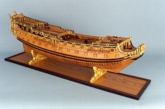 Francis Wheler - Image: HMS Sussex (80) model starboard broadside