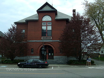 Opera houses and theaters are popular in New England towns, such as the Vergennes Opera House in Vergennes, Vermont. HPIM0003.JPG
