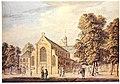 HUA-206622-Gezicht op de Janskerk op het Janskerkhof te Utrecht uit het zuidwesten met links van de kerk het gebouwtje van de Hoofdwacht.jpg