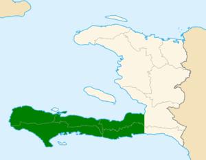 Tiburon Peninsula - Location of the Tiburon Peninsula, shaded in green