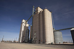 Hale Center Texas grain elevator 2011.jpg