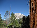 Half Dome. View from the John Muir Trail just northeast and above Little Yosemite Valley. - panoramio.jpg