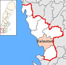 karta halmstads kommun Oskarströms distrikt – Wikipedia karta halmstads kommun