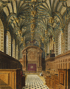 Ode for the Birthday of Queen Anne - Hampton Court Palace, Chapel, by Charles Wild, 1819 - royal coll 922125 313698 ORI 2