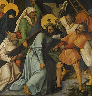 The Dormition of the Virgin; (reverse) Christ Carrying the Cross