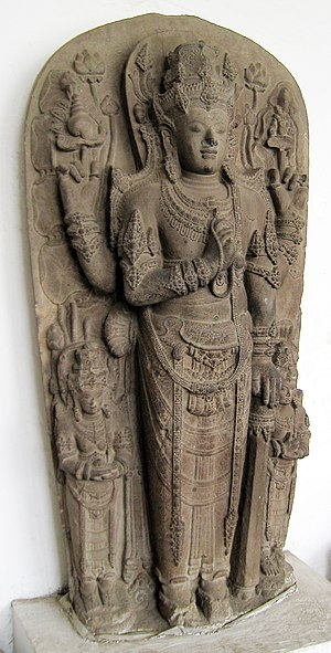 Majapahit - King Kertarajasa portrayed as Harihara, amalgamation of Shiva and Vishnu. Originally located at Candi Simping, Blitar, today it is displayed in National Museum.