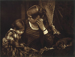 Harriet Farnie and Miss Farnie with a Sleeping Puppy, Brownie.jpg
