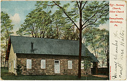 Paxtang Presbyterian Church on an old postcard