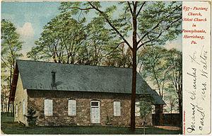 Paxtang, Pennsylvania - Paxtang Presbyterian Church on an old postcard