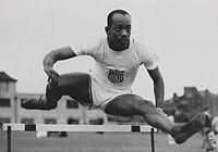 Harrison Dillard in the hurdles, Olympic Games, London, 1948.jpg