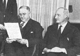 James Alexander Fowler - Fowler (right) with Attorney General Harry M. Daugherty in 1922