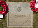 Harvey VC stone at Earlestown War Memorial.jpg