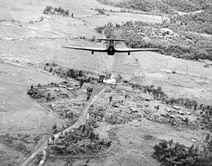 RAF Third Tactical Air Force - Image: Hawker Hurricane attack bridge in Burma