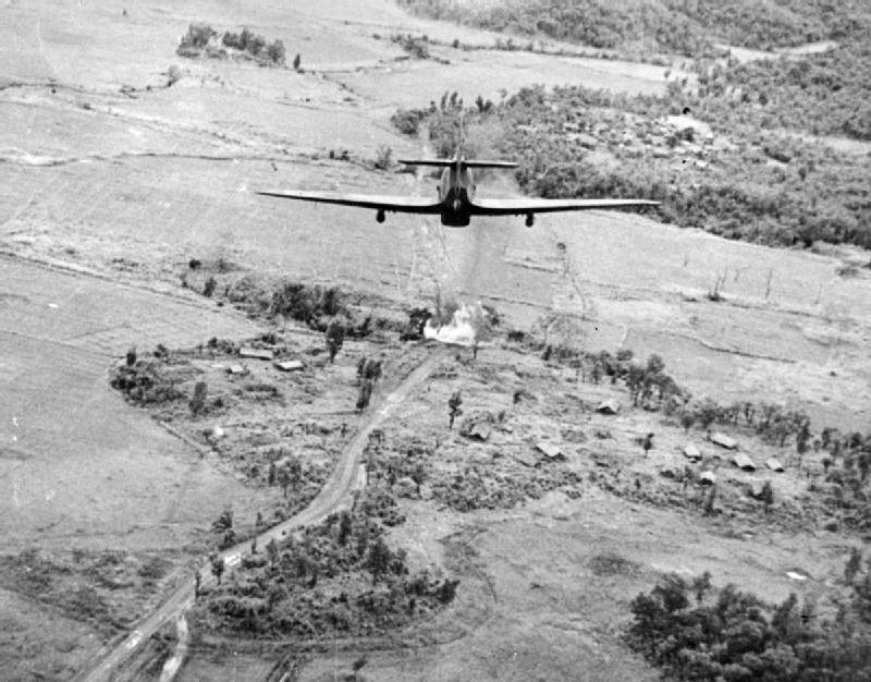 Hawker Hurricane attack bridge in Burma