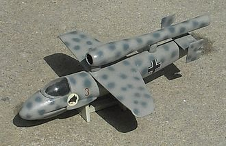 Emergency Fighter Program - Model of pulsejet-powered He P.1077 Romeo. Pulsejets vibrated excessively and needed help to start.