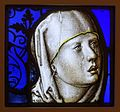 Head of Our Lady of Sorrows, Cologne, 1525-1550, stained glass - Museum Schnütgen - Cologne, Germany - DSC00245.jpg