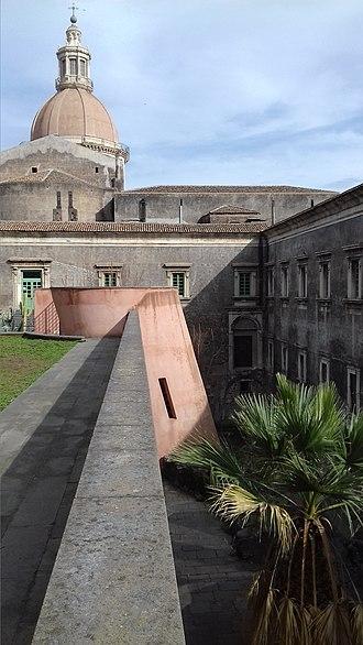 Giancarlo De Carlo - Giardino dei Novizi and roof of Heating Plant, University of Catania