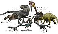 Hell Creek dinosaurs and pterosaurs by durbed.jpg