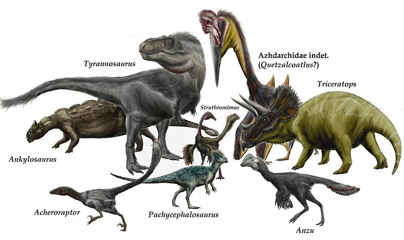 File:Hell Creek dinosaurs and pterosaurs by durbed.jpg