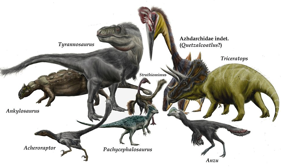 Hell Creek dinosaurs and pterosaurs by durbed