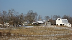 National Register of Historic Places listings in Lawrence County, Indiana - Image: Helton Mayo Farm