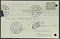 Hendrik Antoon Lorentz - postcard (briefkaart) to J.F. Hulk, curator art of Teylers Museum, Haarlem - 10 February 1911 - 2.jpg