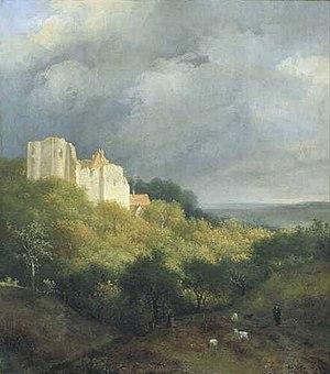 Hendrik van de Sande Bakhuyzen - Ruin on a Mountain. 1810–1860