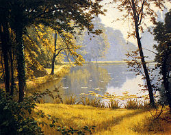 Henri Biva, A Lily Pond, 91.4 x 73.7 cm (36 x 29 in), private collection.jpg