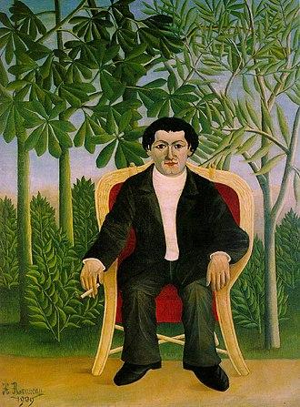 Joseph Brummer - Portrait of Joseph Brummer by Henri Rousseau, 1909, now in the National Gallery, London