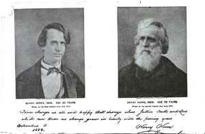 Henry Howe - photos from 1846 and 1886
