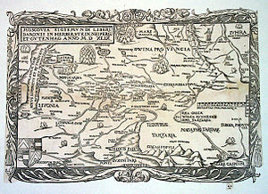 "Nogai Horde - Sigismund von Herberstein places 'Nagayske Tartare (the ""Nogai Tatars"") on the lower Volga in his 1549 map."