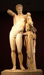 Ermes con Dioniso, opera di Prassitele