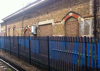 Herne Hill railway station - The sealed entrances and windows of the station's upper floor
