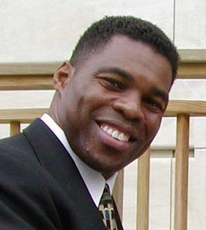 Cropped photo of Herschel Walker at PE4LIFE Da...