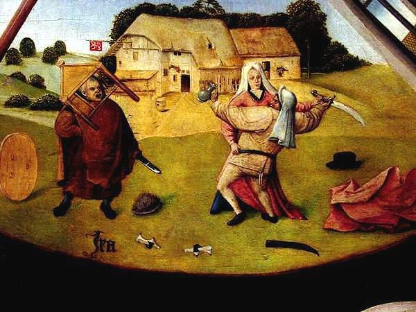 Hieronymus Bosch- The Seven Deadly Sins and the Four Last Things - Anger