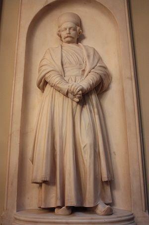 Cowasji Jehangir Readymoney - High relief sculpture of Cowasji Jehangir by Thomas Woolner, Old College, University of Edinburgh