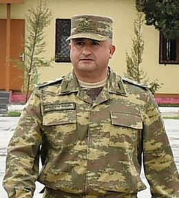 Hikmat Hasanov in military unit in Tartar district.jpg