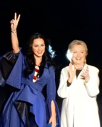 Celebrity culture - Katy Perry and Hillary Clinton at the I'm With Her concert, which supported Hillary Clinton in the 2016 Presidential Race