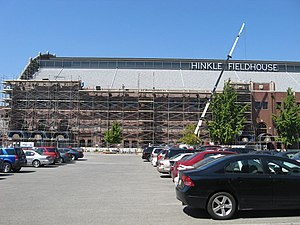 Hinkle Fieldhouse - Image: Hinkle Construction 03