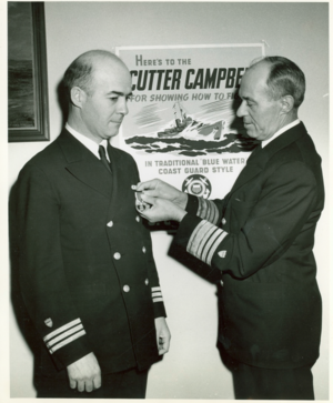 James Hirshfield - CDR Hirshfield being awarded the Purple Heart by the Commandant, Vice Admiral Russell R. Waesche