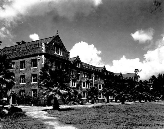 Buckman Hall was completed in 1906, and is currently used as a residence hall. It was named for state representative Henry Holland Buckman, the principal author of the Buckman Act, which consolidated Florida's public institutions of higher education in 1905. Historic Buckman Hall.jpg